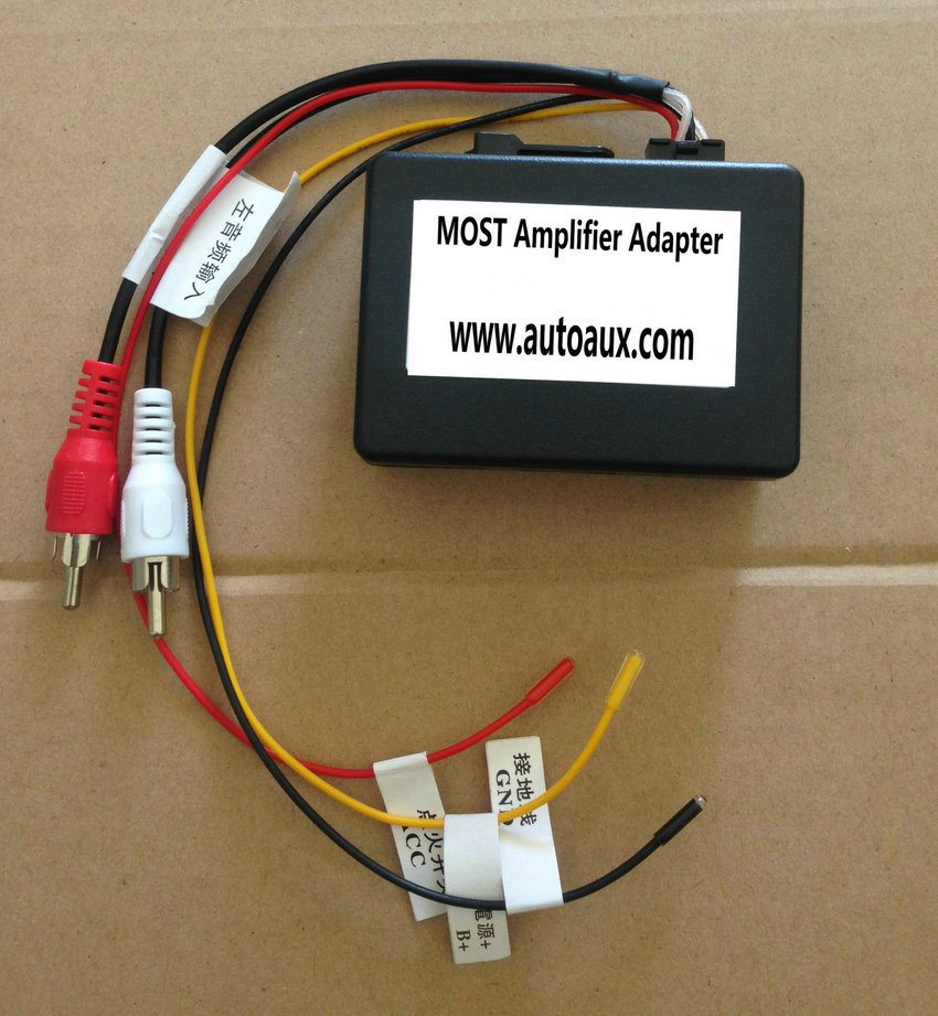 Mercedes Benz Porsche RCA audio gateway adapter kit for MOST fiber optic power amplifier to aftermarket Car DVD GPS (emulator converter)