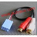 2RCA RCA  audio input aux interface for Lada/Blaupunkt CD changer mini iso 8 pin cable adapter