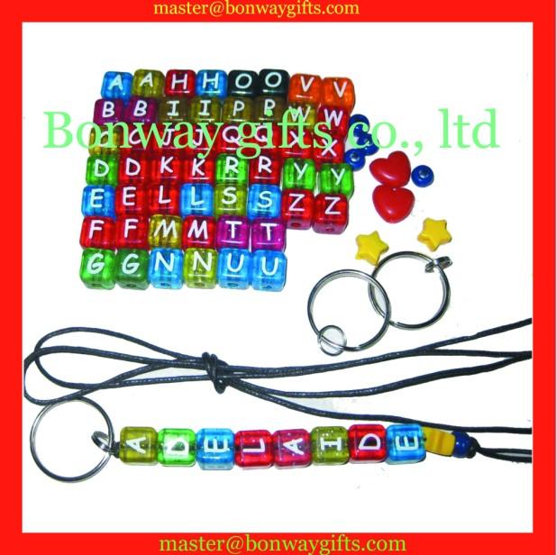 DIY alphabet beads