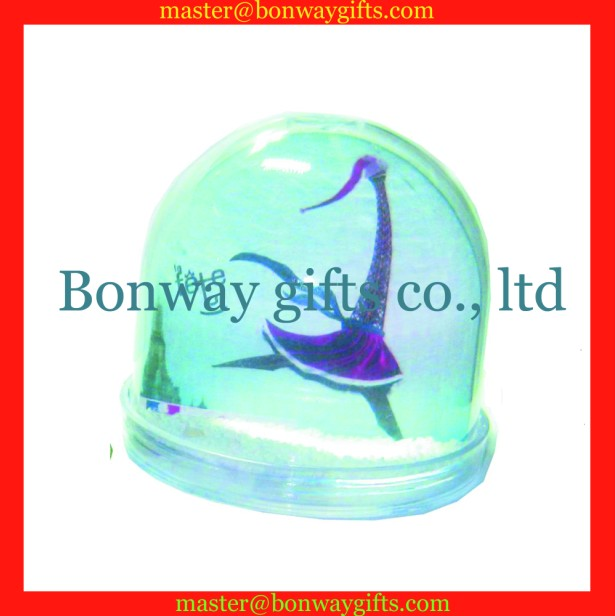 plastic snow globe