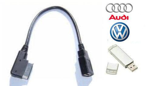 Audi-AMI /VW-MDI USB cable for RNS510 RNS315  Premium 8 and Audi 2005-2010