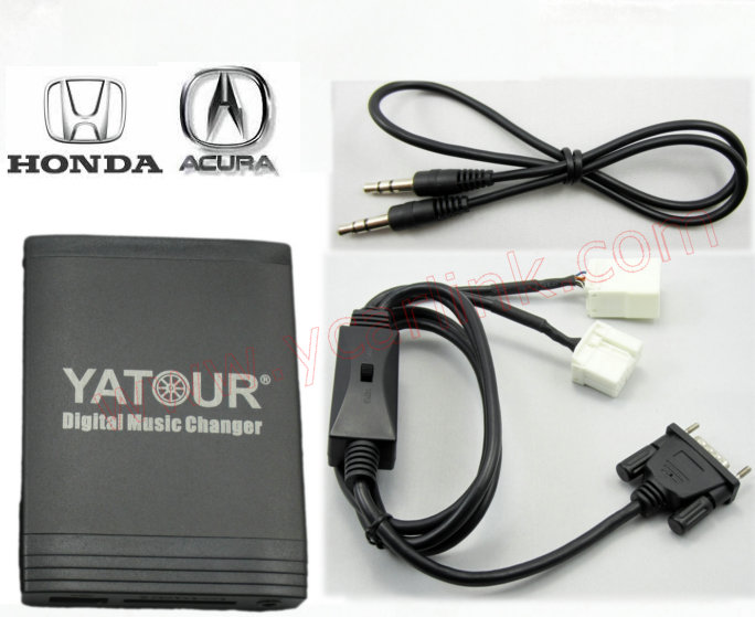 Digital CD changer for 2.4 White 6+8pin Honda Acura with CD changer