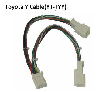 Y adapter cable connector Small 6+6 (YT-TYY) for audio Navi AUX CDC tuning 2005-2012 Toyota/Lexus/Scion models