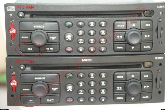 How to check software version of Peugeot/Citroen RT3 radios (Van-bus or Can-bus)?