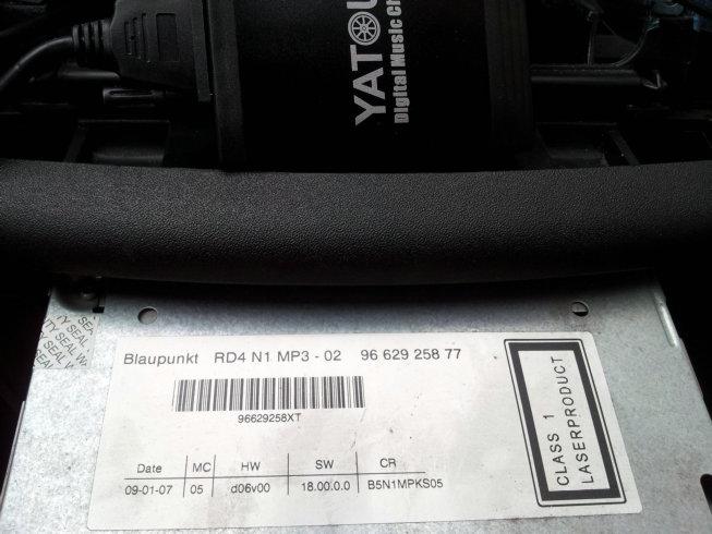 Why Yatour interface had bad sound noise on my Peugeot/Citroen OEM Blaupunkt RD4 radio