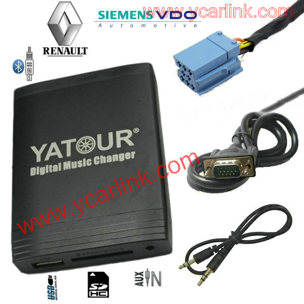 Car MP3/WMA Integration kit for Renault Siemens VDO Dayton 8-pin( USB SD AUX Bluetooth adapter)