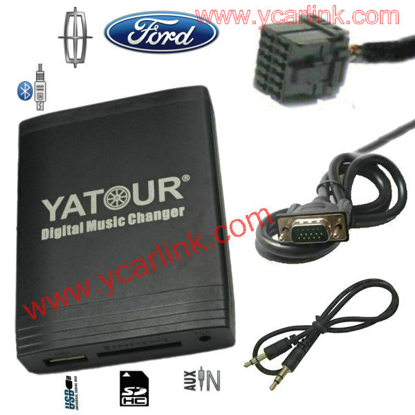 Car MP3 USB SD AUX Bluetooth Interface CD changer adapter for Ford  Europe 12-pin