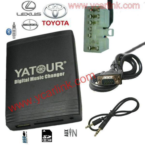 Digital CD Changer(USB SD AUX Bluetooth adapter) for Toyota Big 5+7 Lexus Scion