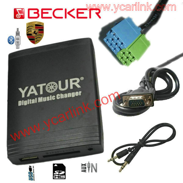 Yatour Digital CD Changer for Becker Porsche Mercedes Benz Ford(USB SD AUX Bluetooth adapter)