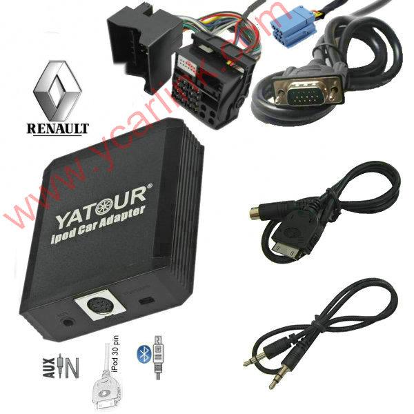 iPod/iPhone car integration kit for new Renault quadlock 12pin