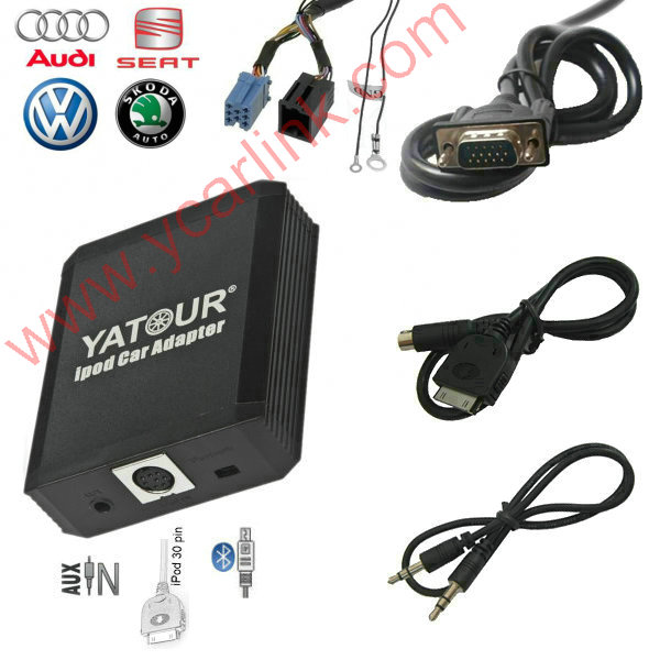 Yatour iPod car Adapter iPhone car integration for VW Audi Skoda ISO 8-Pin