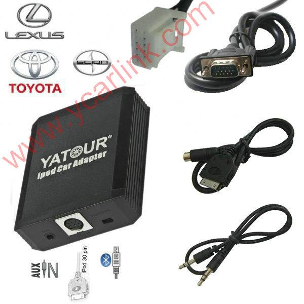 Yatour iPod Car Adapter iPhone  Integration kit for Toyota Lexus Small 6+6 Lexus