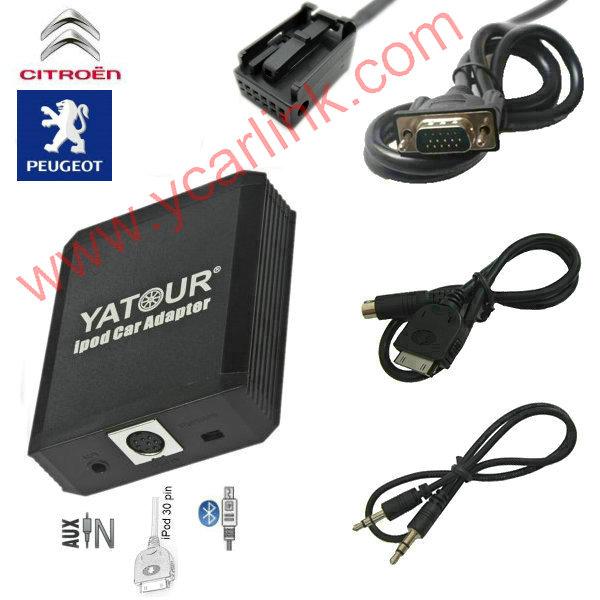 Yatour iPod Car Adapter/iPhone Integration kit interface  for Citroen/Peugeot RD4 RT3 RT4 (Blaupunkt/Bosch)