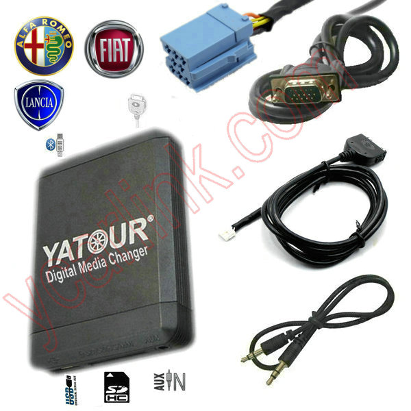 USB+iPhone interface CD changer for Fiat/Alfa Romeo/Lancia OEM Blaupunkt head unit bluetooth optional